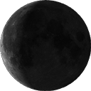 Abnehmender Mond, kurz vor Dunkelmond