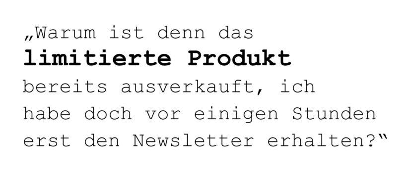 Hinweis zu limitierten Produkten