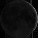 Frisch zunehmender Mond