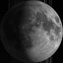 Zunehmender Mond, kurz vor Vollmond