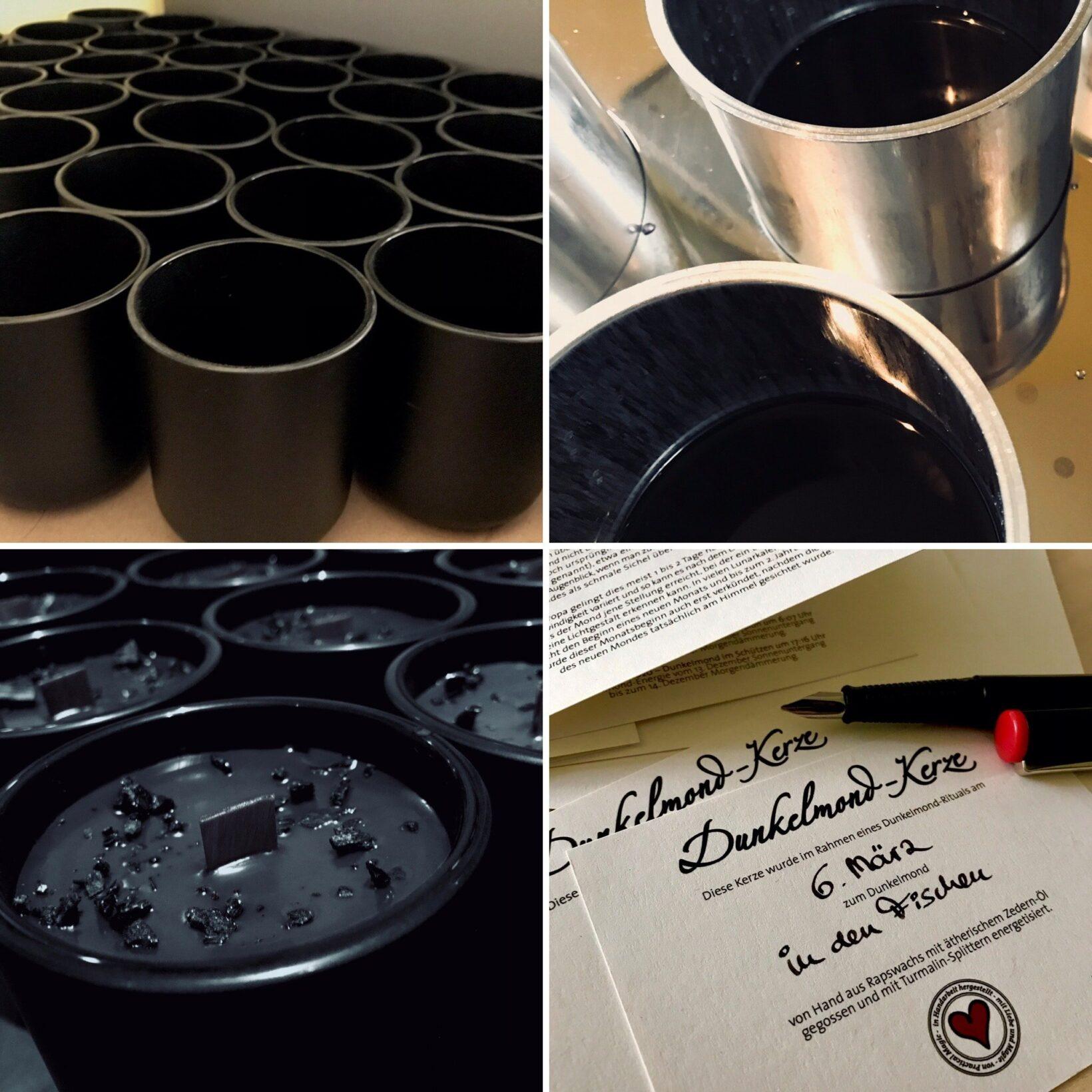 Dunkelmond-Kerzenritual Herstellung