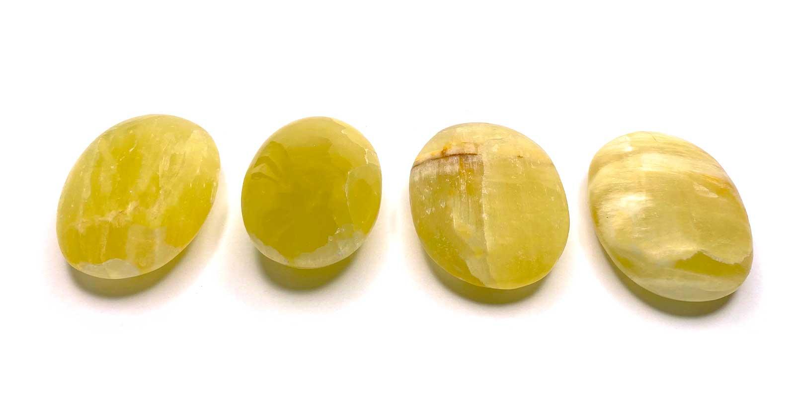Handschmeichler Gelber Calcit (Zitronencalcit) Glücksstein Halbedelstein Edelstein Trommelstein