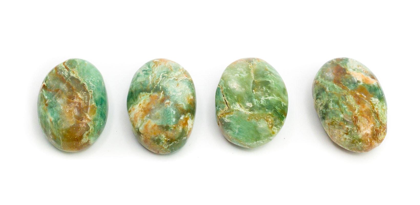 Handschmeichler Grüner Smaragd-Chalcedon Trommelstein Glücksstein Halbedelstein Edelstein Kraftstein