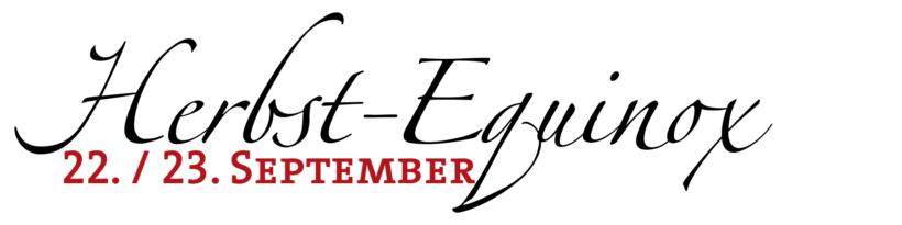 Herbst Tag und Nacht Gleiche Equinox 22. / 23. September
