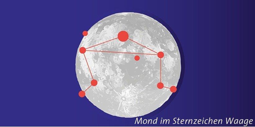 Mond in der Waage