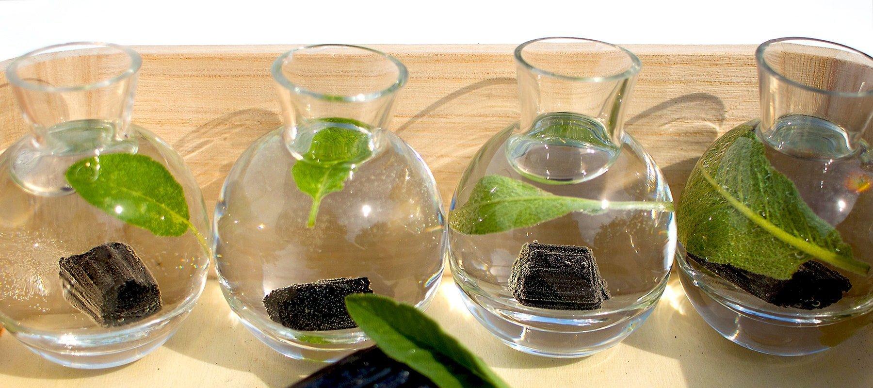 Turmalin-Wasser mit Salbei für die 4 Ecken