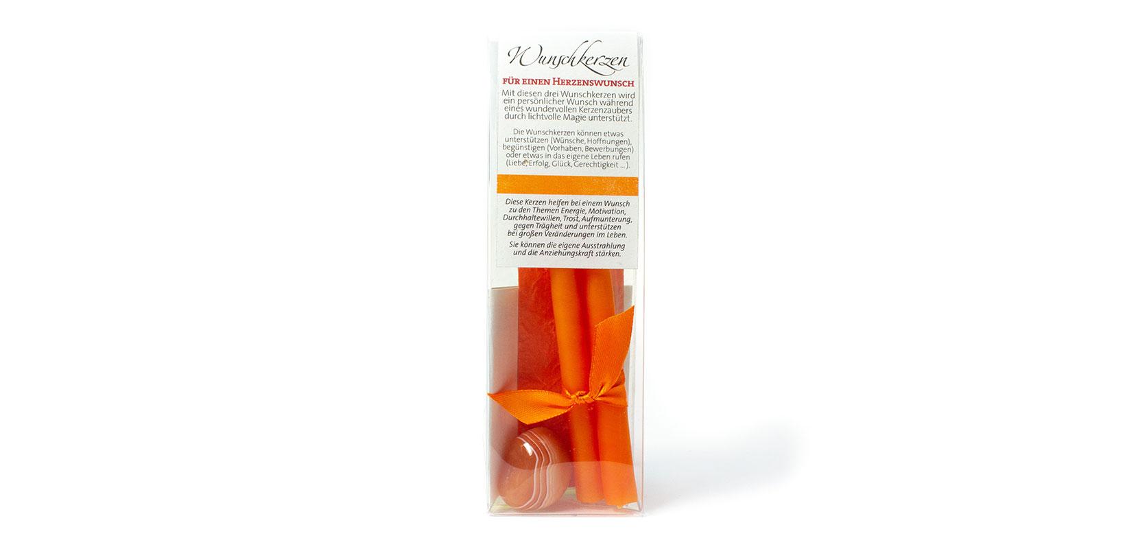 Wunschkerzen-Set Orange